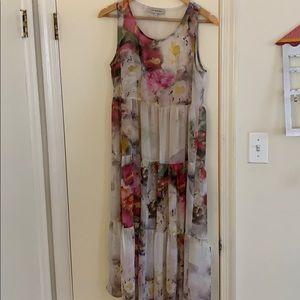 Sheer floral bohemian dress